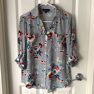 fortune + Ivy Tops - FORTUNE + IVY BUTTON DOWN BLOUSE (Stitch Fix).